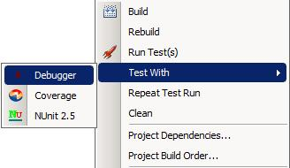 Test with Debugger